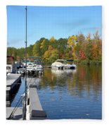 Fall Fishing Break Fleece Blanket