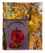 Fall Flag 1 Fleece Blanket