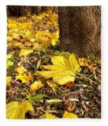Fall Floor Fleece Blanket