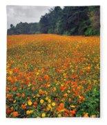 Fall Flowers Fleece Blanket