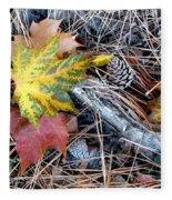 Fall Forest Floor Fleece Blanket