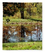 Fall Frogging Got One Fleece Blanket