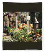 Fall Garden Fleece Blanket