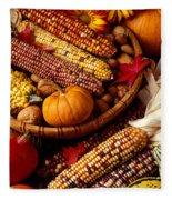 Fall Harvest Fleece Blanket