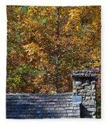 Fall House In Carolina Fleece Blanket