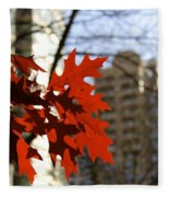 Fall In The City 2 Fleece Blanket