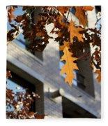 Fall In The City 3 Fleece Blanket