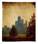Fall In The City Fleece Blanket