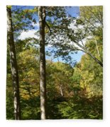 Fall In The Forest Fleece Blanket