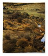 Fall In The Valley Fleece Blanket