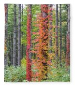 Fall Ivy On The Trees Fleece Blanket