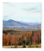 Fall Landscape Fleece Blanket