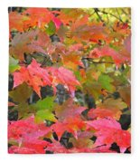 Fall Leaves Filtered Fleece Blanket