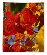 Fall Leaves Flp Fleece Blanket