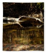 Fall Log Reflection Fleece Blanket