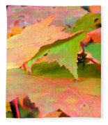 Fall Maple Leaves Fleece Blanket