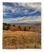 Fall On Whitetop Mountain Fleece Blanket