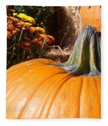 Fall Pumpkin Fleece Blanket