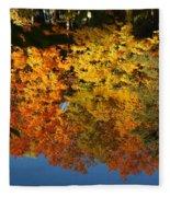 Fall Reflectionsin Michigan Fleece Blanket