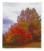 Fall Retreat Fleece Blanket