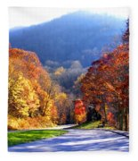 Fall Road 2 Fleece Blanket