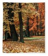 Fall Scenery Fleece Blanket