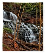 Fall Through The Woods Fleece Blanket