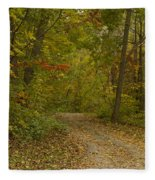 Fall Trail Scene 22 Fleece Blanket