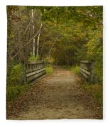 Fall Trail Scene 24 Fleece Blanket