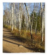 Fall Trail Scene 35 A Fleece Blanket