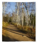 Fall Trail Scene 35 B Fleece Blanket