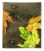 Fall Trio Fleece Blanket
