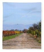 Fall Vineyard Fleece Blanket