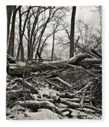 Fallen Soldiers Of The Forest Fleece Blanket