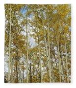 Falling For The Birch And Aspens Fleece Blanket