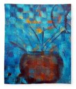 Falling Into Blue Fleece Blanket
