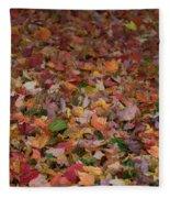 Falling Leaves Fleece Blanket