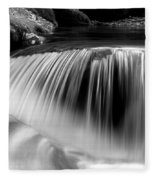 Falling Water Black And White Fleece Blanket