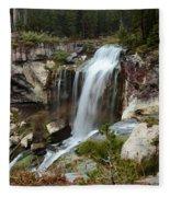 Falls At Newberry Fleece Blanket