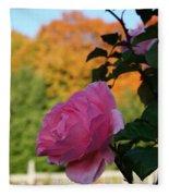 Fall's Final Rose Fleece Blanket