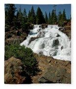 Falls In Site Glen Alpine Falls Fleece Blanket