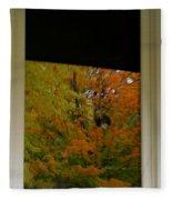 Fall's Reflective Moment Fleece Blanket