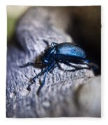 False Darkling Beetle 30 Fleece Blanket