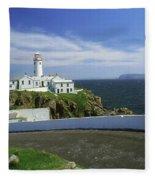 Fanad Lighthouse, Co Donegal, Ireland Fleece Blanket