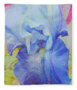 Fanciful Flowers - Iris Fleece Blanket