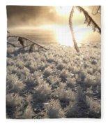 Fanciful Frosty Fractal Forest Fleece Blanket