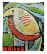 Fancy Bird Fleece Blanket