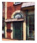 Fancy Green Door Burlington Nj Fleece Blanket