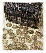 Fancy Treasure Chest  Fleece Blanket