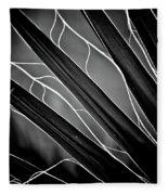 Fanned Leaves Fleece Blanket